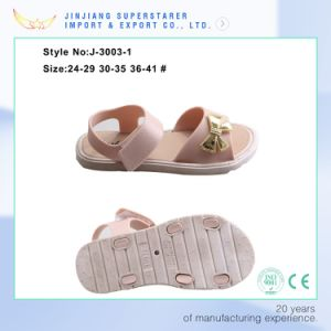 Girls and Women Ladies Flat Sole PVC Upper Jelly Sandal pictures & photos