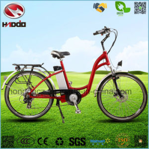 Alloy Frame 250W Hydraulic Front Fork Electric City Road Bicycle pictures & photos