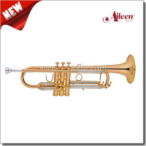 S Style Brass Lacquered Finish Nickel Silver Slides Trumpet (TP8398G) pictures & photos