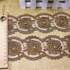Factory Stock Wholesale 7cm Width Polyester Embroidery Trimming Fancy Net Lace for Garments & Home Textiles & Curtains Accessory (BS1108) pictures & photos