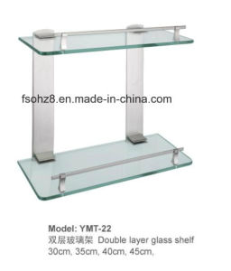 Hot Sale Useful Bathroom Hanger Glass Shelf Rack (YMT-22) pictures & photos