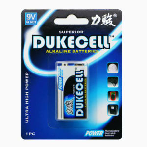for Smoke Alarm Long Duration 6lr61 9V Alkaline Battery pictures & photos