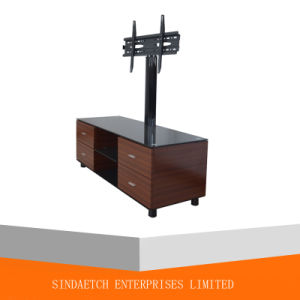 High Quality Tempered Glass MDF LCD Plasma TV Stand Has Drawers pictures & photos