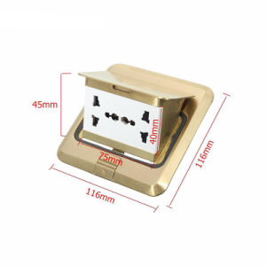 Universal 250V 6 Prong Receptacle Pop-up Floor Ground Outlet Socket pictures & photos