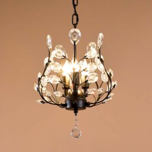 America Style 3-Ights Kitchen Mini Metal Crystal Chandelier Light in Clear Crystal for Dining Room, Dia32cm H44cm pictures & photos