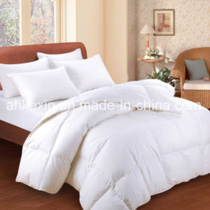 King Size 75% Grey Duck Down Comforter Set pictures & photos