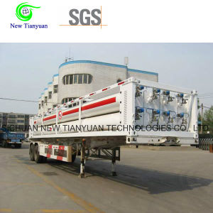 High Pressure CNG 6-Tube Trailer for CNG Daughter Station pictures & photos