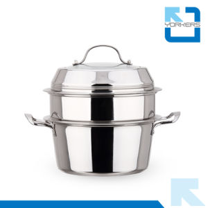 Double-Deck Stainless Steel Kitchen Utensils Steam Pot pictures & photos