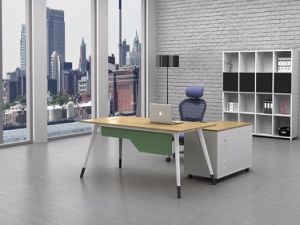 White Customized Metal Steel Office Staff Desk Frame with Ht78-1 pictures & photos