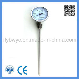 Dial 60mm Industrial Usage Stainless Steel Probe Radial Bimetal Thermometer 0-300c pictures & photos