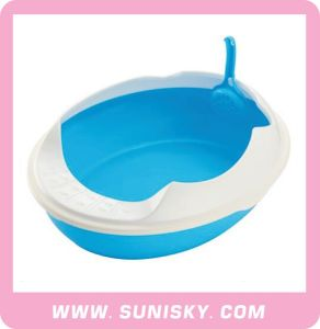 Small Cat Litter Tray Cat Toilet with Scoop pictures & photos