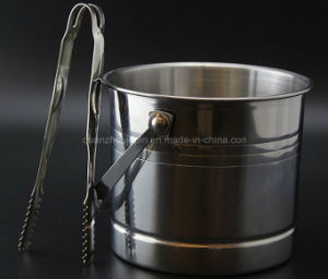OEM Stainless Steel Champagne Ice Bucket with Handle pictures & photos