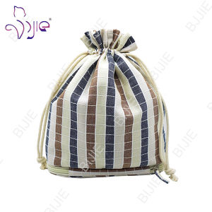 High Quality Plaid Cotton Cosmetic Bag for Gift Package pictures & photos