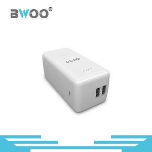 Wholesale Square Shape Dual USB Power Bank for Mobile Phone pictures & photos