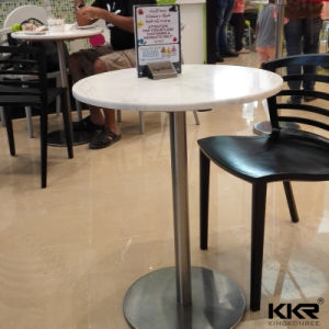 Artificial Stone Dining Furniture Small Round Tea Table for Hotel pictures & photos