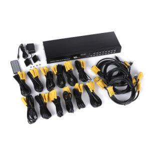 16 Channels Automatic Computer Hosts 16 Port Auto USB2.0 VGA Kvm Switch pictures & photos