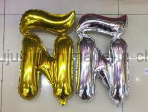 OEM Colorful Aluminum Foil Balloon with Number Design for Party pictures & photos
