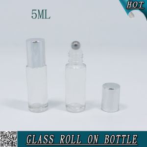 5ml Empty Cosmetic Clear Glass Roll on Bottle for Essential Oil pictures & photos