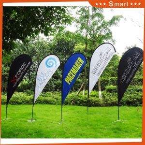 Hot Selling Promotion Advertising Printing Teardrop Feather Flying Beach Flag pictures & photos