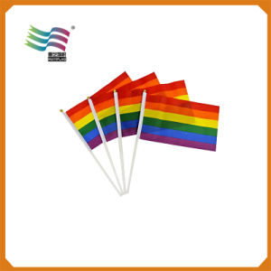 Mini Custom Promotional Polyester Printing Hand Wave Flags (HYHF-AF018) pictures & photos