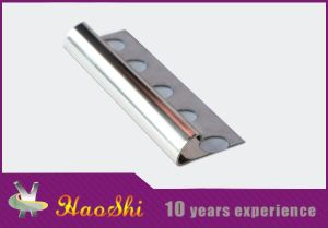 Solid 304 Stainless Steel Stair Nosing Trim with Customized Color pictures & photos