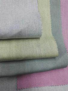 Half Bleache Colored Woven Denim Fabric pictures & photos