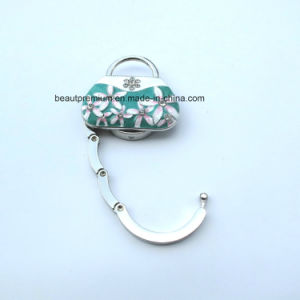 New Design Handbag Shape Bag Holder with Beauty Flower Pattern BPS0134