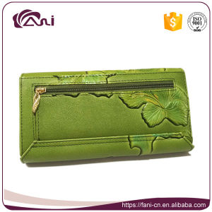 New Design Flower Embossed Leather Wallets Women Wallet pictures & photos