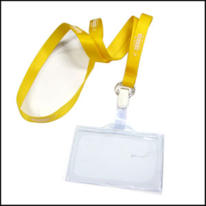 Retractable Clear Name/ID Card Badge Reel Holder Custom Lanyard with Clips (NLC022) pictures & photos