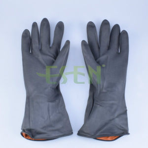 Black Electrical Rubber Glove/Black Rubber Glove Electrical Resistant Glove pictures & photos