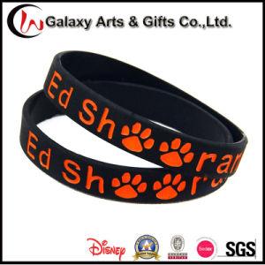 Wholesale Custom Promotion Black Rubber Debossed Silicone Bracelet Logo pictures & photos