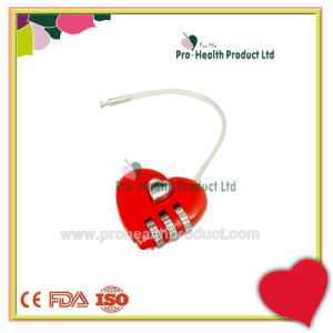 Mini Travel Metal Combination Love Heart Shape Luggage Pad Lock pictures & photos