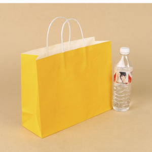 Customized Kraft Paper Bag with Twisted Handle pictures & photos