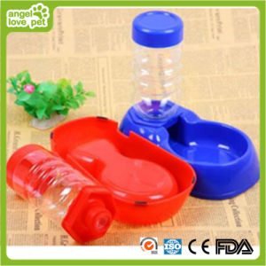 Plastic Pet Bowl with Bottle to Drink pictures & photos