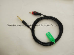 Fisheye 3.5 Stereo to 6.35 Mono Audio/Video AV RCA Cable pictures & photos