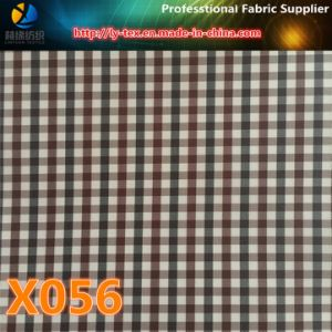 3mm Cation Gingham Check Fabric, Polyester Fabric with Waterproof for Garment (X055-57) pictures & photos