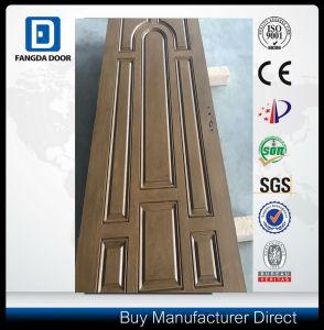 8 Panel Mahogany Texture Teak Color Fiberglass Door pictures & photos