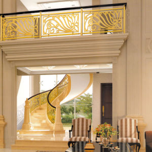 Luxury Gloden Aluminum Alloy Railing for Hotel pictures & photos