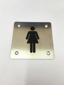 New Style Stainless Steel Female Toilet Door Sign Plate pictures & photos