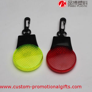 Runner Jogging Plastic Carabiner Clip LED Flashlight Reflector