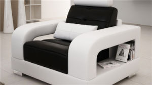 White Italy Leather 1+2+3 Sofa for House Use (HC5080) pictures & photos