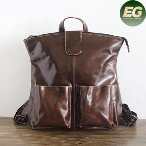 100% Genuine Leather Backpack Girls School Bags Weekend Back Pack Emg4881 pictures & photos