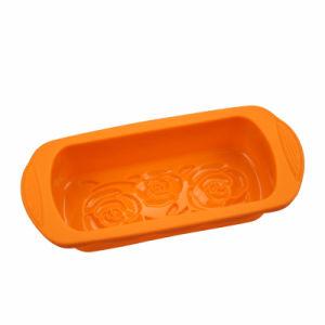 Orange, Flower Pattern FDA/LFGB Silicone Loaf Bread Mold pictures & photos
