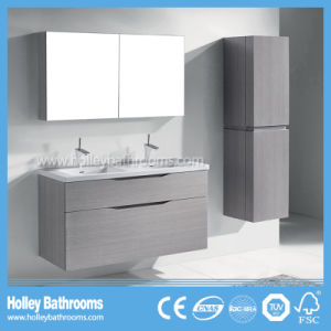 Modern European Bathroom Vanities with Mirror Cabinet and Side Unit (BF361D) pictures & photos