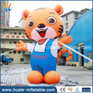 Customized Inflatable Lovely Animal, 5m Tall Giant Inflatable Tiger