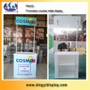 Best Price Metal Pole Promotion Table for Supermarket Exhibition (PM-02) pictures & photos