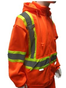 ANSI Approval Outdoor Quality High Visibility Reflective Safety Flannel Jacket Fleece From Factory pictures & photos