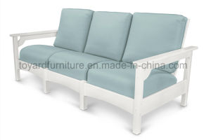 Modern Classical Ivory White Polywood Wooden Garden Outdoor Sofa for Hotel Club Bar Deck pictures & photos