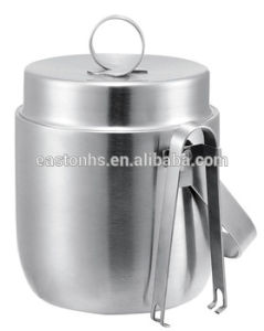 Double Layer Brushed Stainless Steel Ice Bucket for Hotel Room pictures & photos