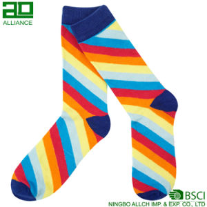 Rainbow Colorful Wholesale Custom Dress Crew Socks pictures & photos